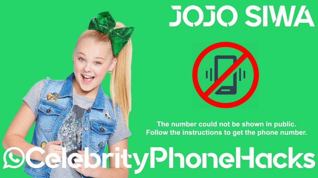 jojo siwa age song phone number leaked celebrityphonehacks