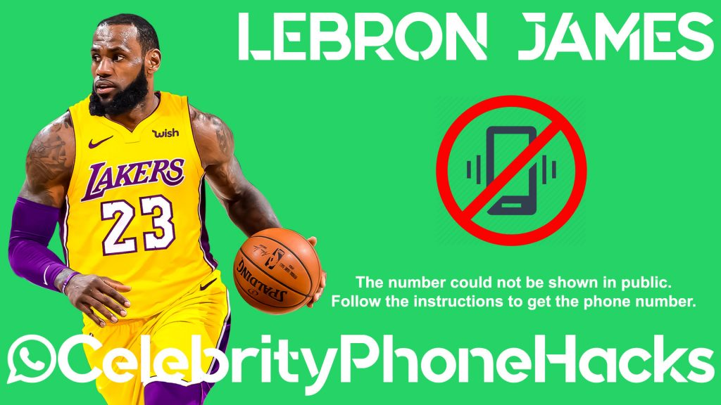 lebron james real phone number and whatsapp hacked 2019