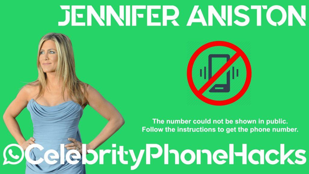 jennifer aniston whatsapp phone number leaked celebrity phone hacks