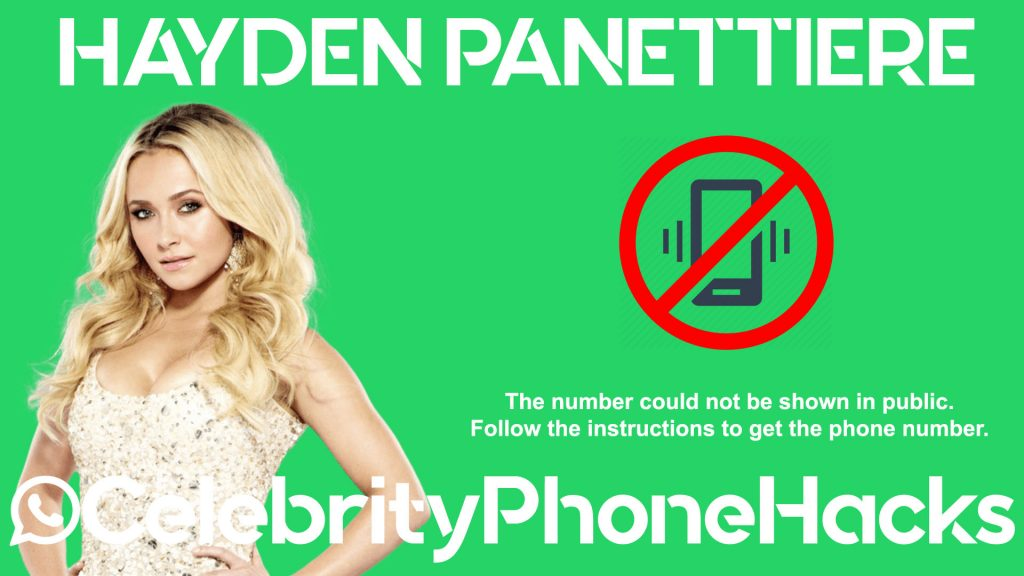 what is hayden panettiere real phone number 2019