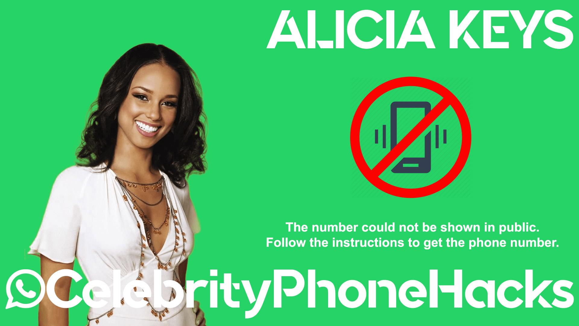 Alicia Keys real phone number 2019 whatsapp hacked leaked