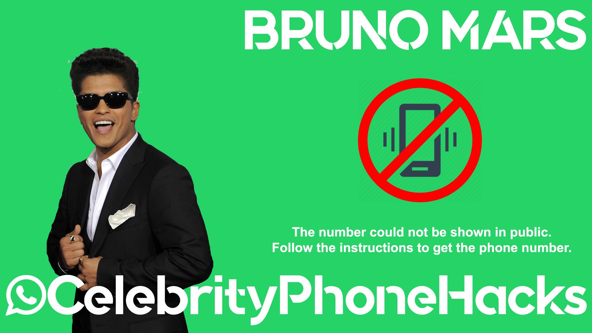 Bruno Mars real phone number 2019 whatsapp hacked leaked