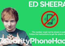 Ed Sheeran real phone number 2019 whatsapp hacked leaked