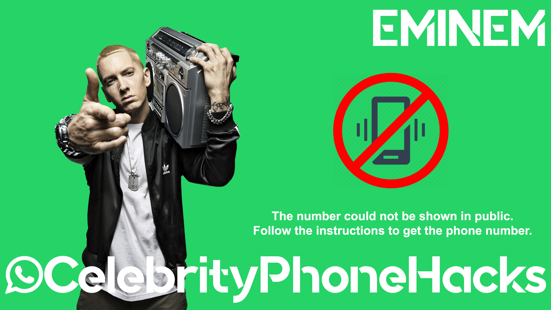 Eminem real phone number 2019 whatsapp hacked leaked