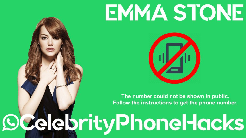 Emma Stone real phone number 2019 whatsapp hacked leaked