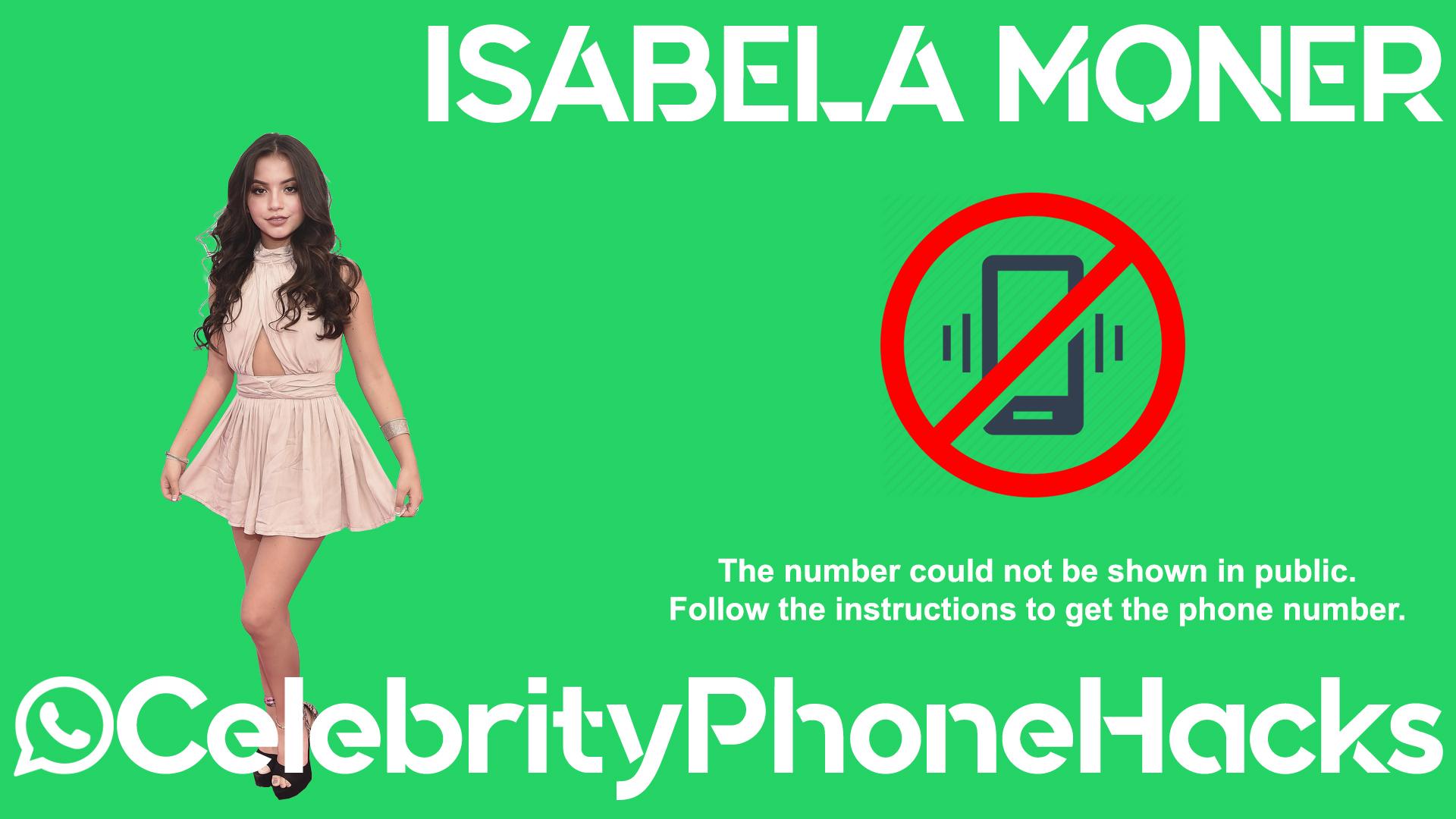 Isabela Moner real phone number 2019 whatsapp hacked leaked
