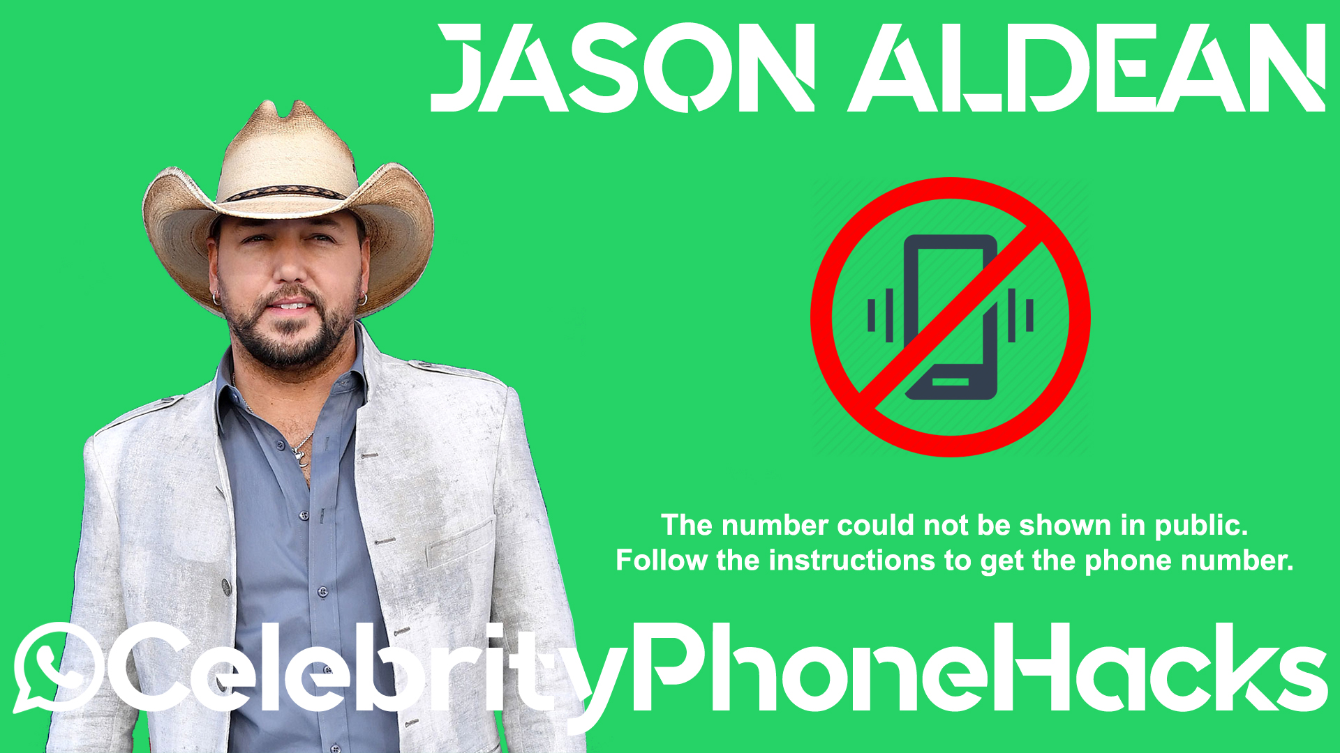 Jason Aldean real phone number 2019 whatsapp hacked leaked