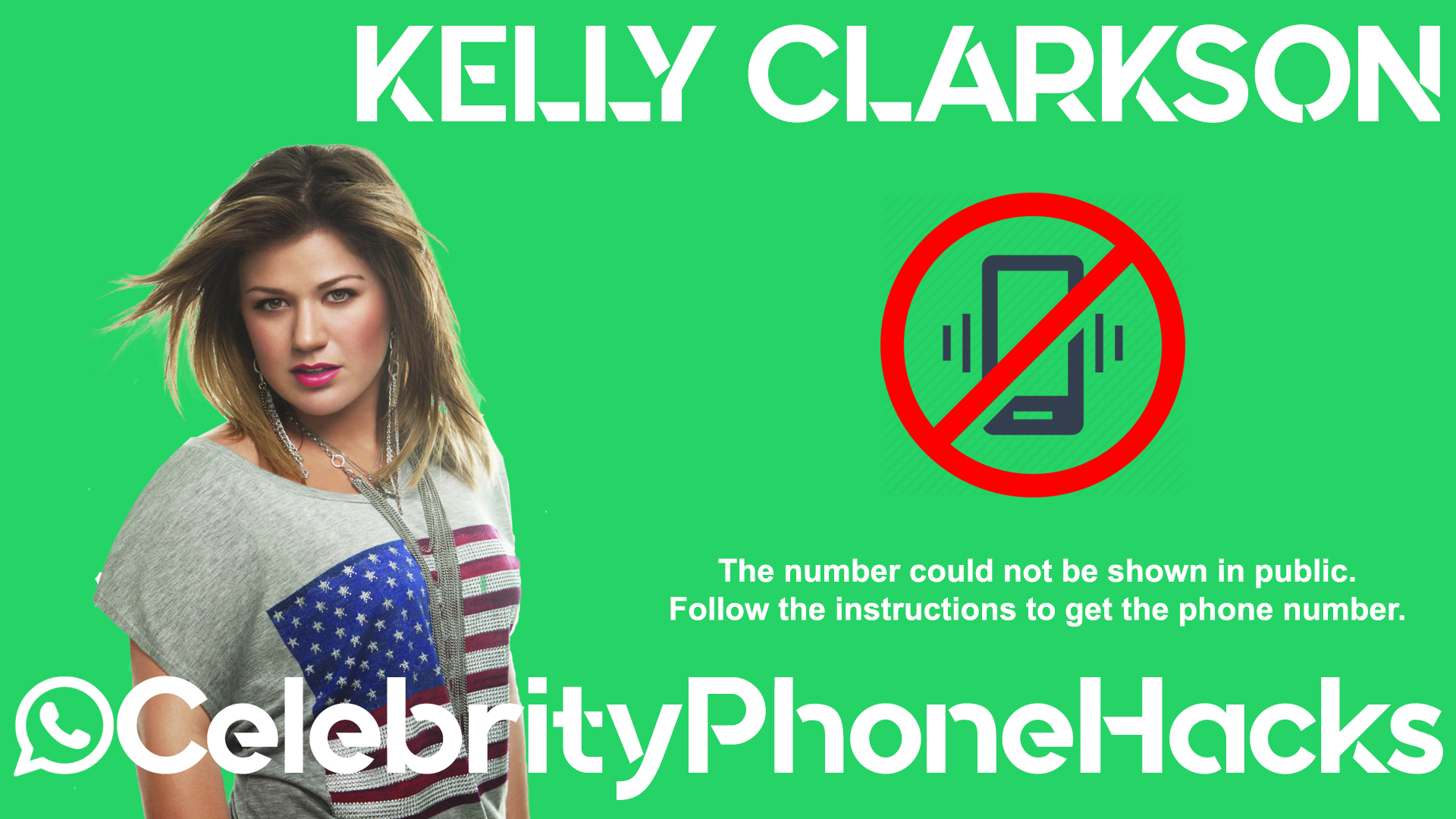 Kelly Clarkson real phone number 2019 whatsapp hacked leaked