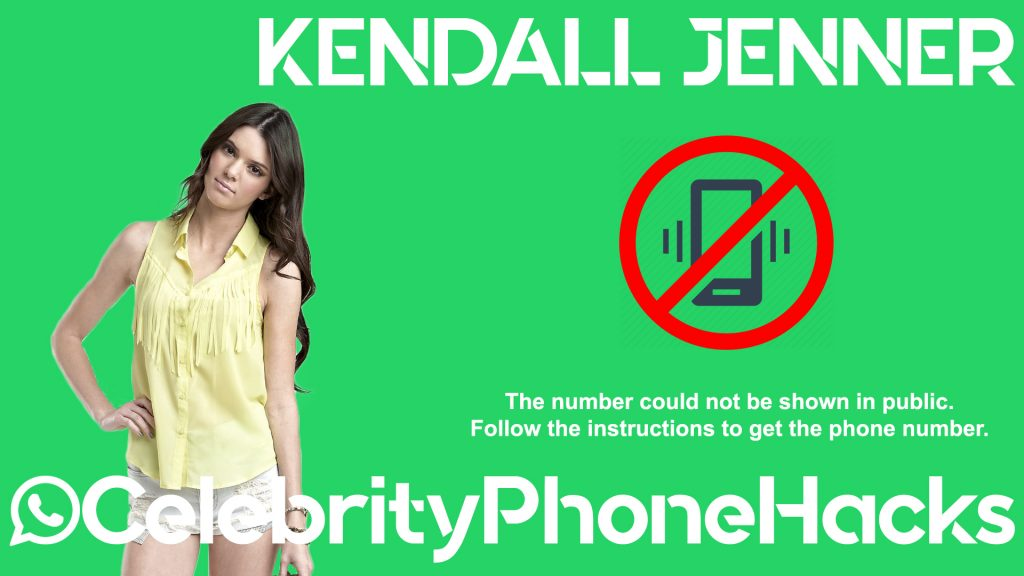 Kendall Jenner real phone number 2019 whatsapp hacked leaked