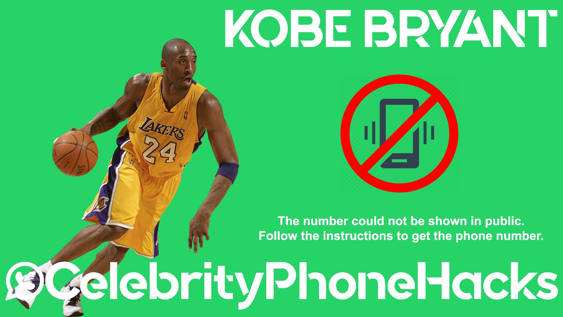 Kobe Bryant real phone number 2019 whatsapp hacked leaked