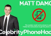Matt Damon real phone number 2019 whatsapp hacked leaked