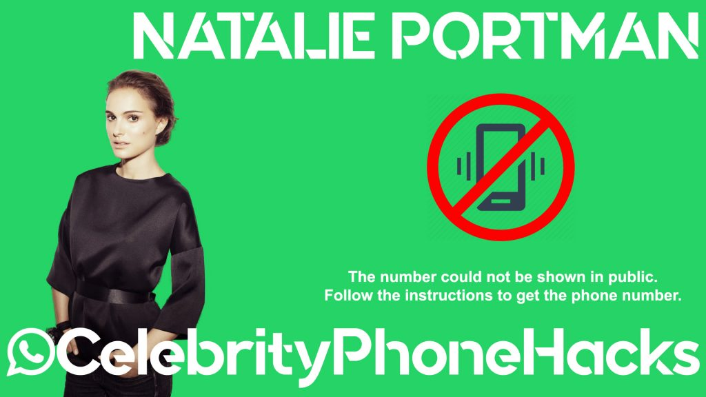 Natalie Portman real phone number 2019 whatsapp hacked leaked
