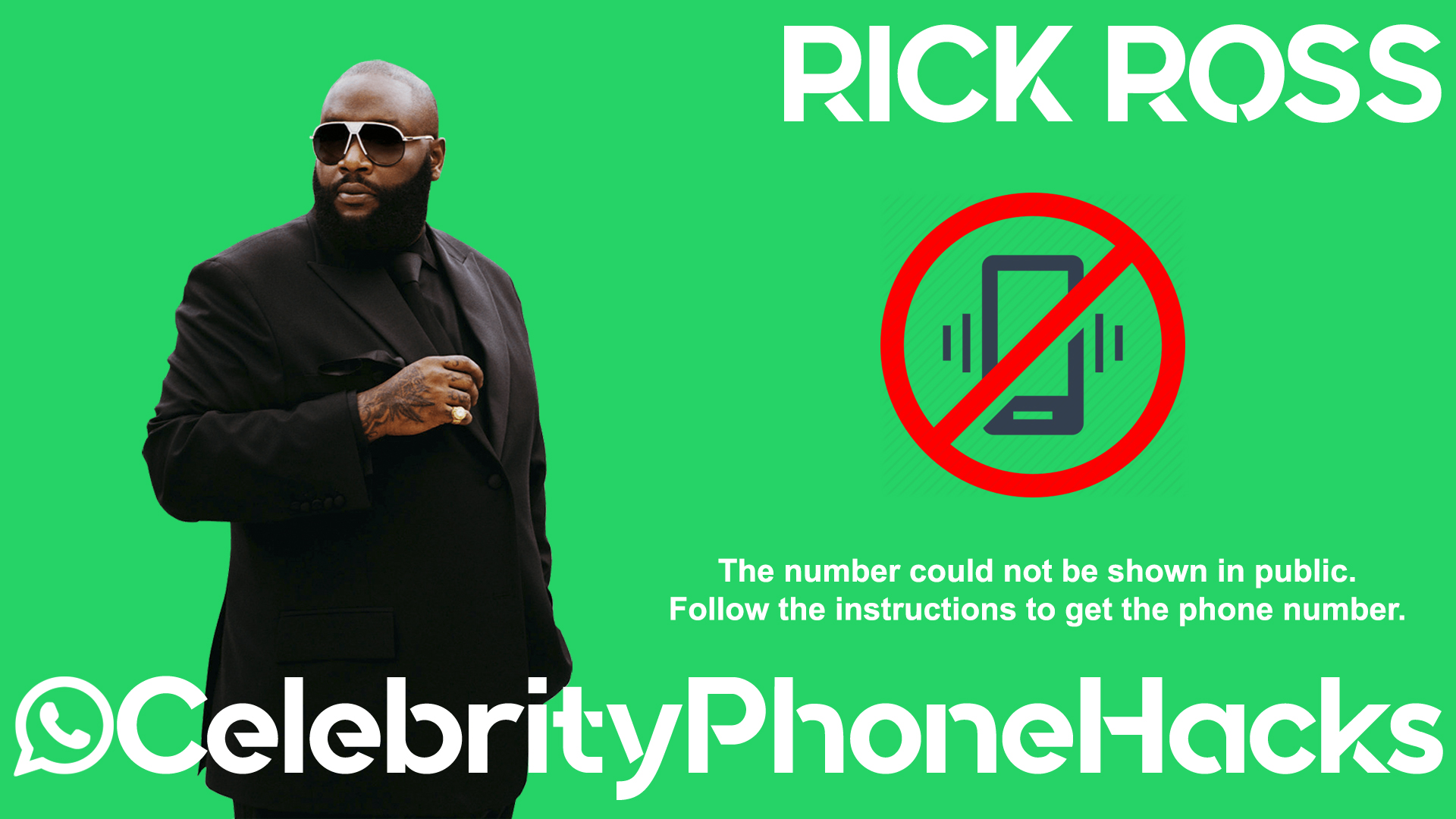 Rick Ross real phone number 2019 whatsapp hacked leaked