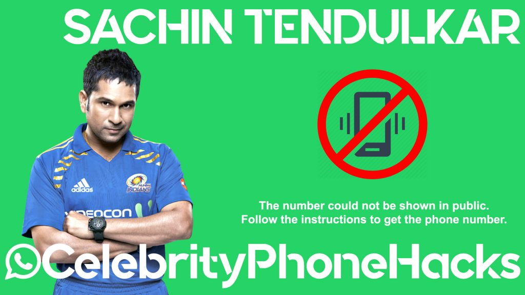 Sachin Tendulkar real phone number 2019 whatsapp hacked leaked