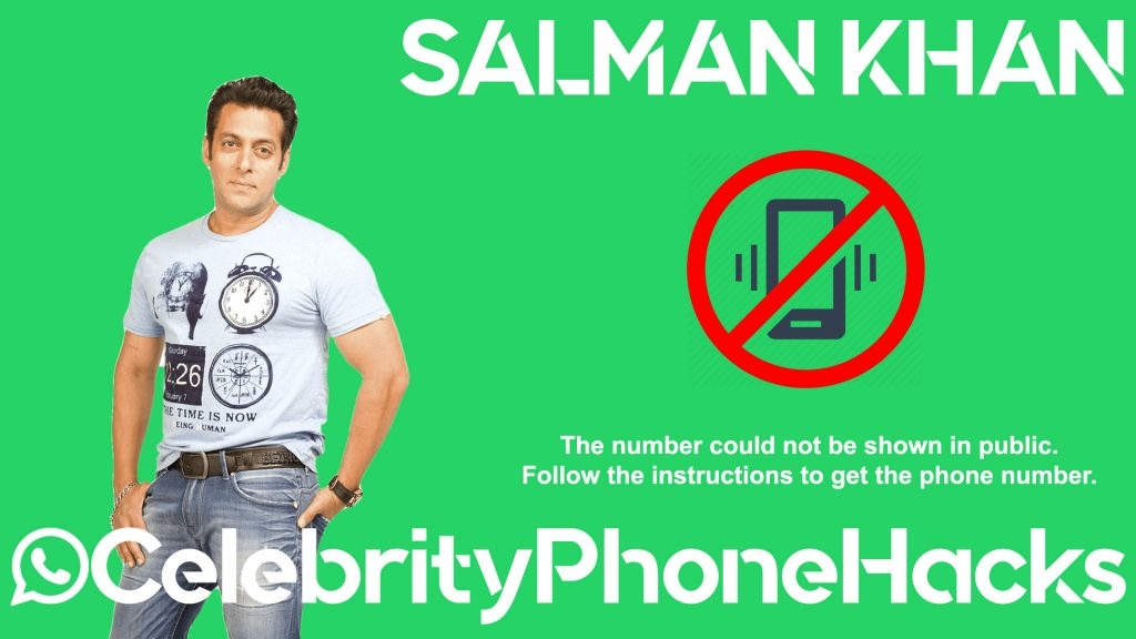 Salman Khan real phone number 2019 whatsapp hacked leaked