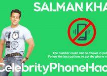 Salman Khan real phone number 2019 whatsapp hacked leaked