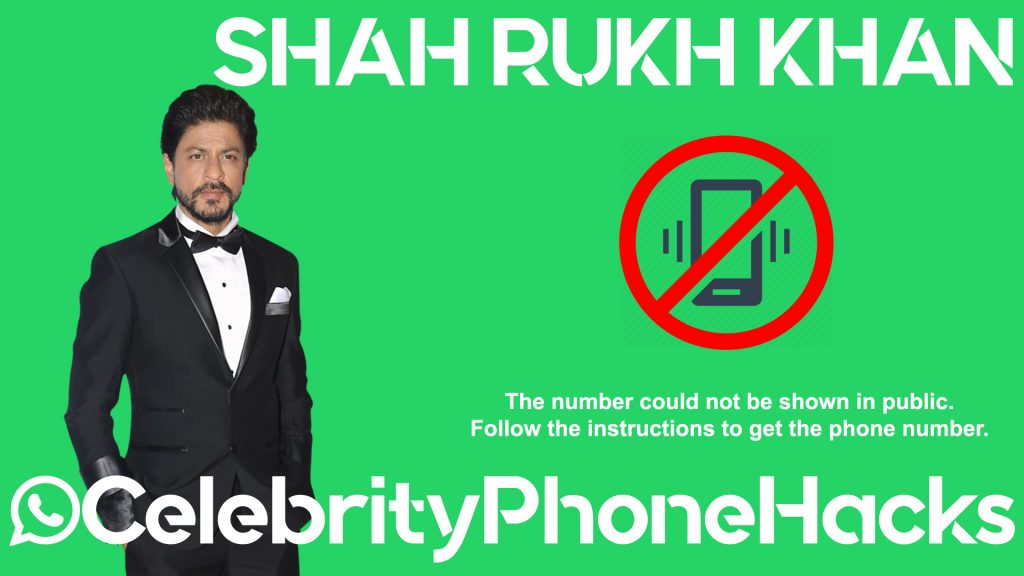 Shah Rukh Khan real phone number 2019 whatsapp hacked leaked