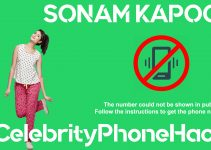 Sonam Kapoor real phone number 2019 whatsapp hacked leaked
