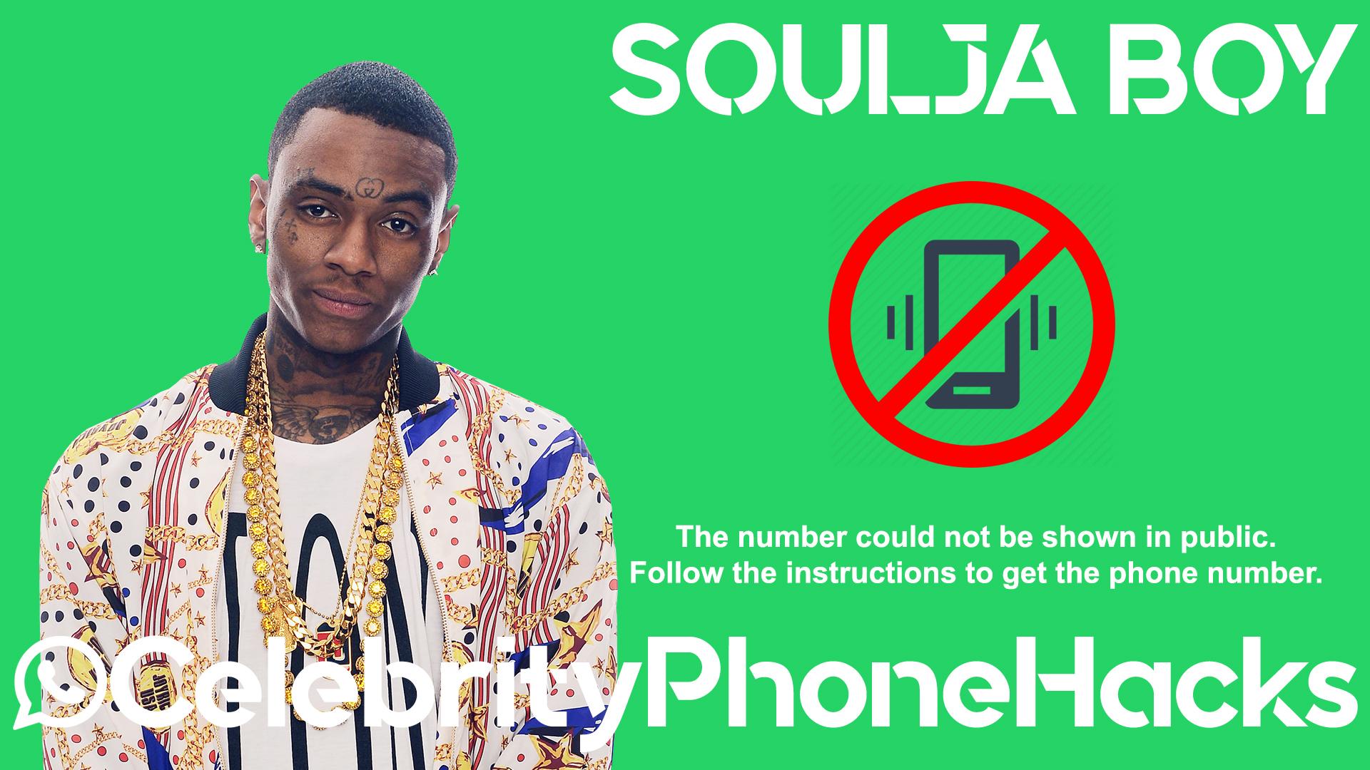 Soulja Boy real phone number 2019 whatsapp hacked leaked