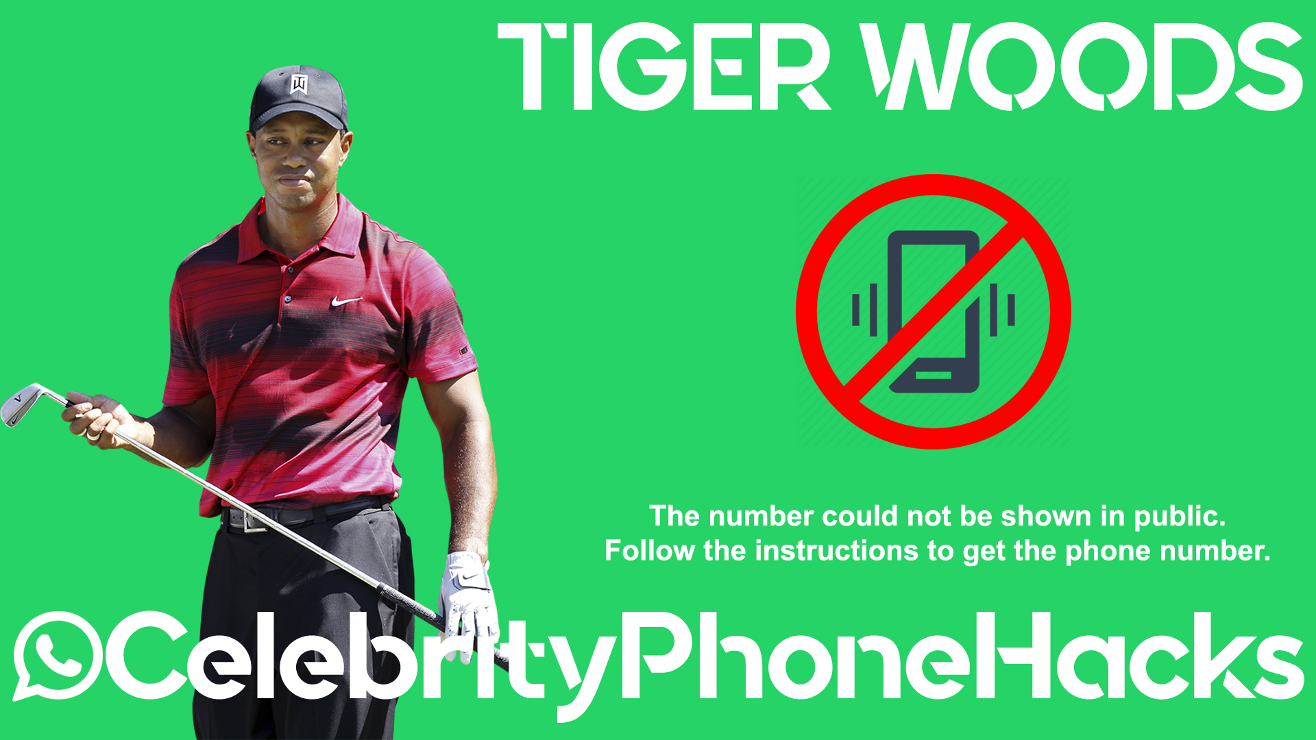 Tiger Woods real phone number 2019 whatsapp hacked leaked
