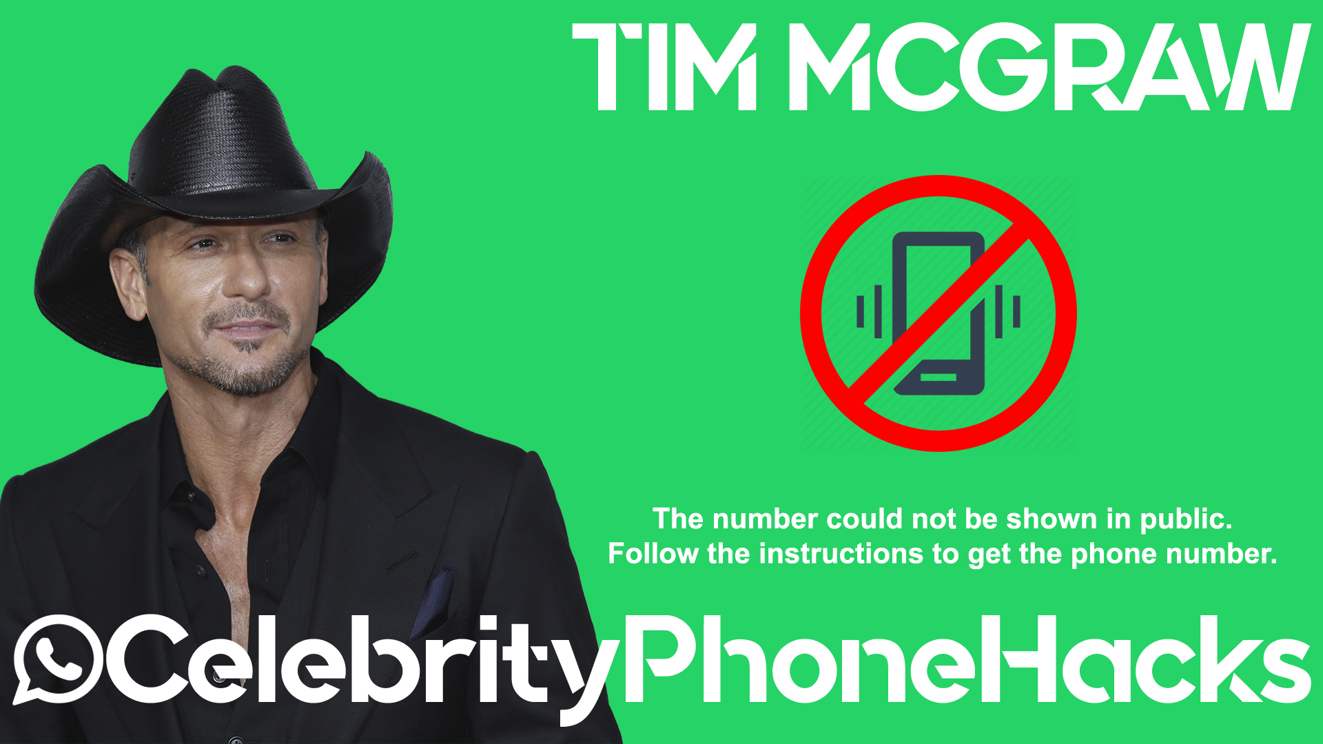 Tim McGraw real phone number 2019 whatsapp hacked leaked