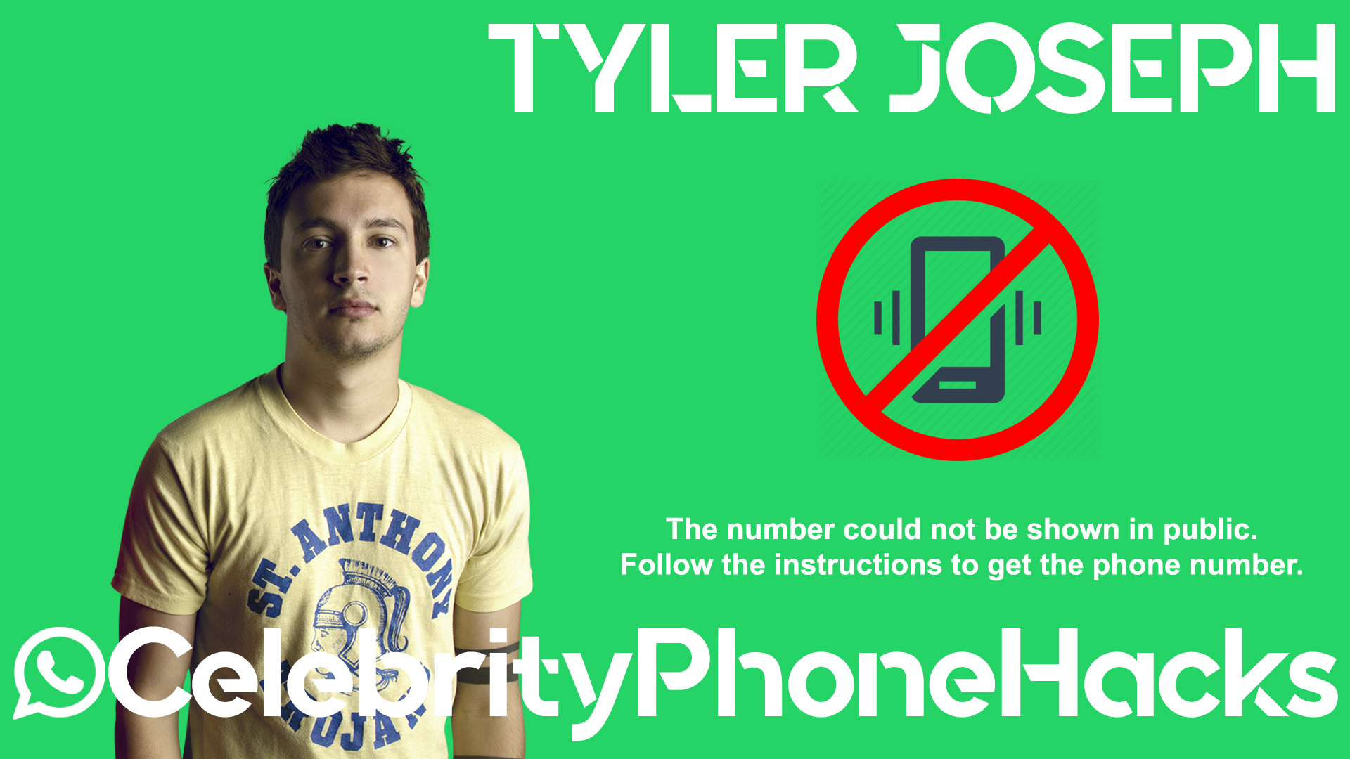 Tyler Joseph real phone number 2019 whatsapp hacked leaked