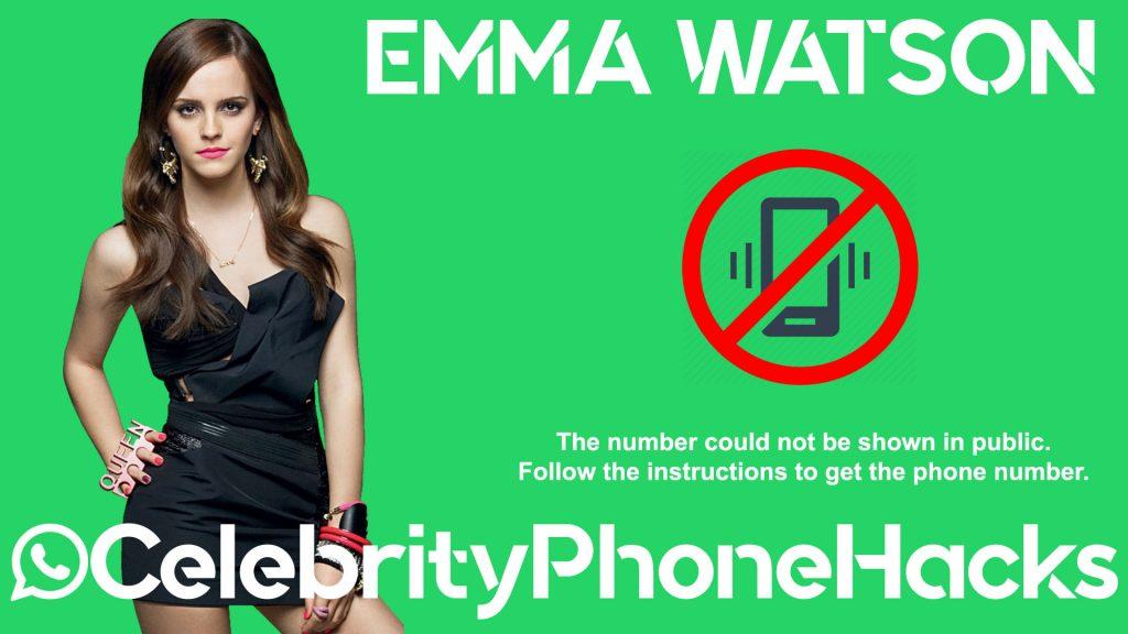 emma watson real phone number 2019 celebrityphonehacks