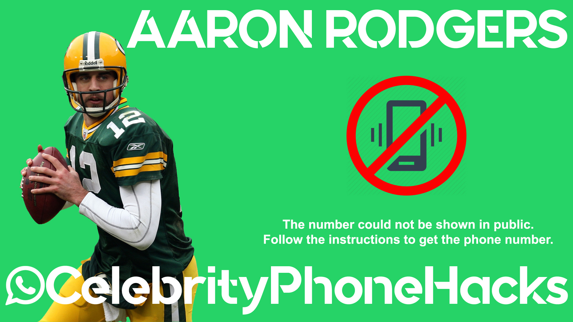 Aaron Rodgers real phone number 2019 whatsapp hacked leaked