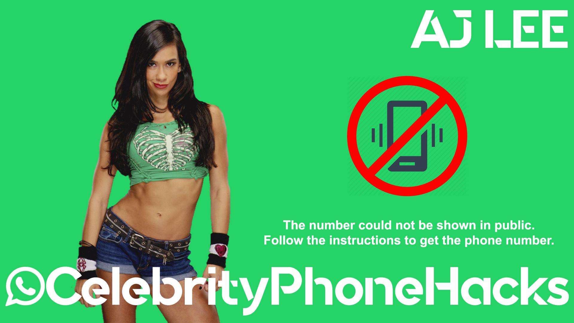 Aj Lee real phone number 2019 whatsapp hacked leaked