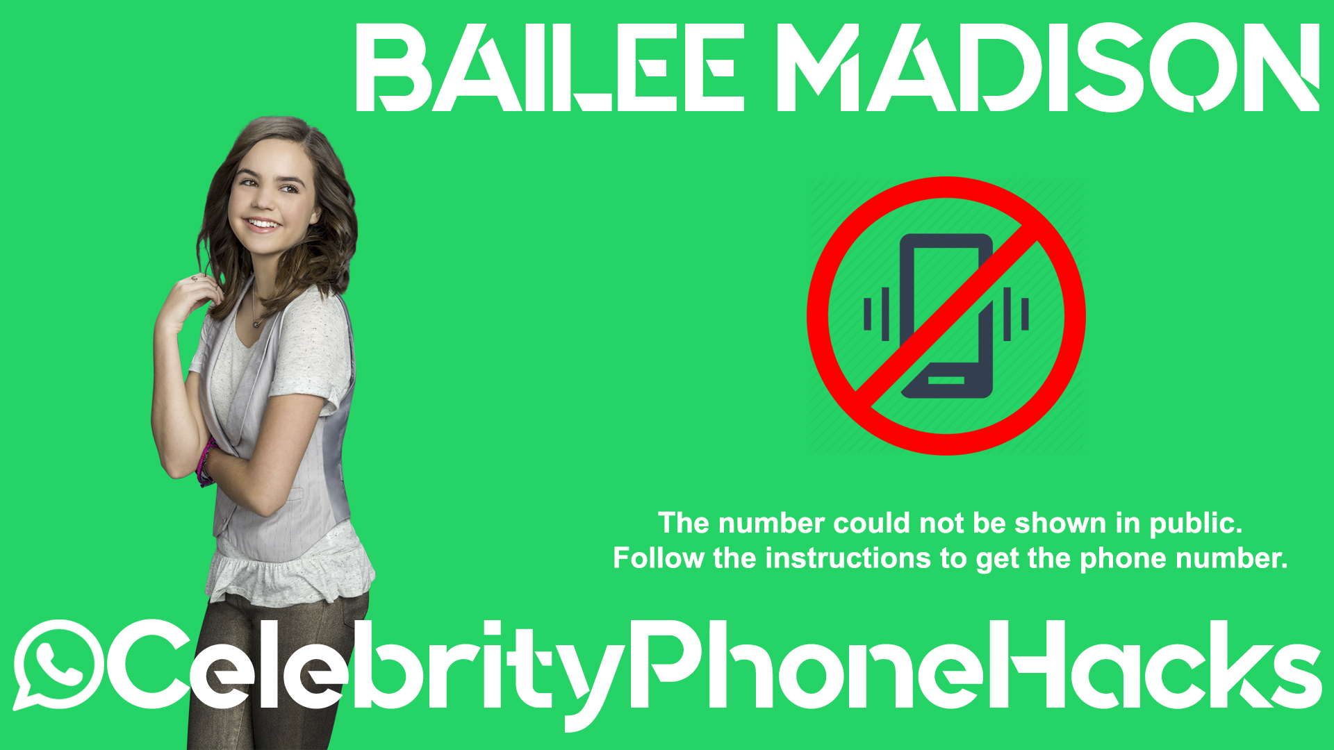 Bailee Madison real phone number 2019 whatsapp hacked leaked