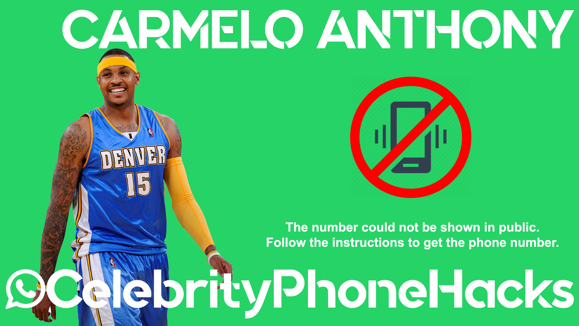 Carmelo Anthony real phone number 2019 whatsapp hacked leaked