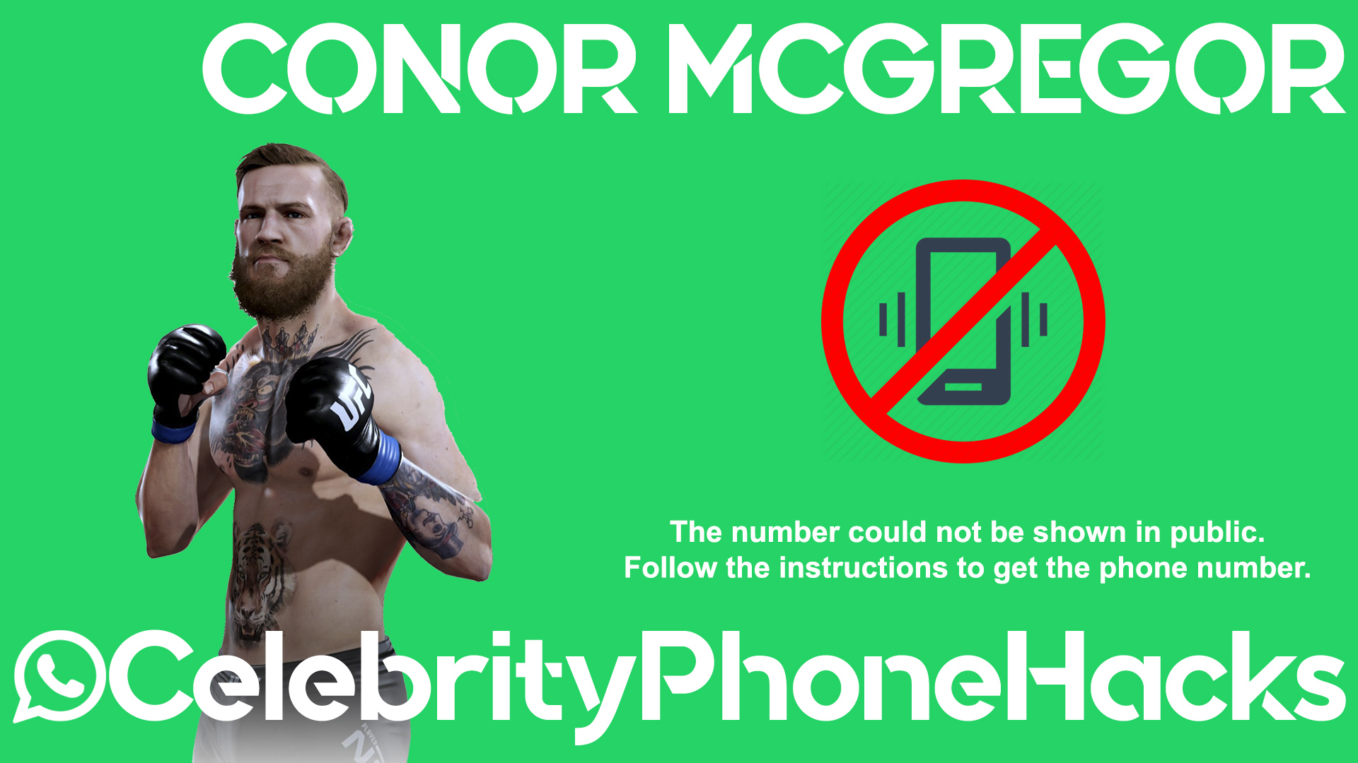 Conor McGregor real phone number 2019 whatsapp hacked leaked