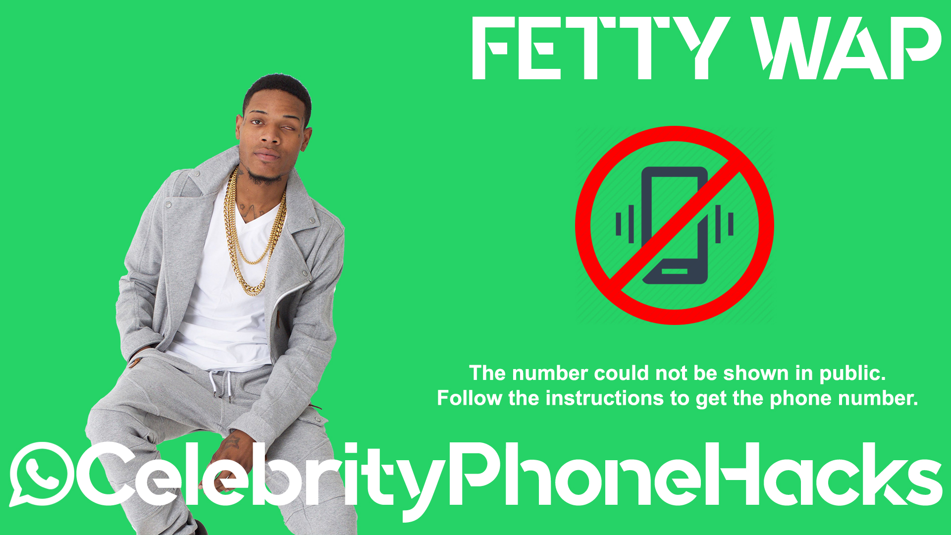 Fetty Wap real phone number 2019 whatsapp hacked leaked