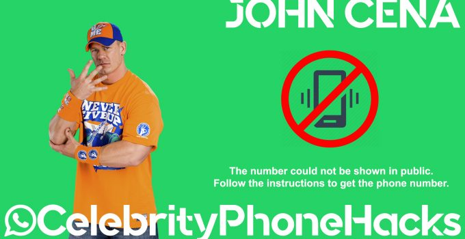 John Cena real phone number 2019 whatsapp hacked leaked