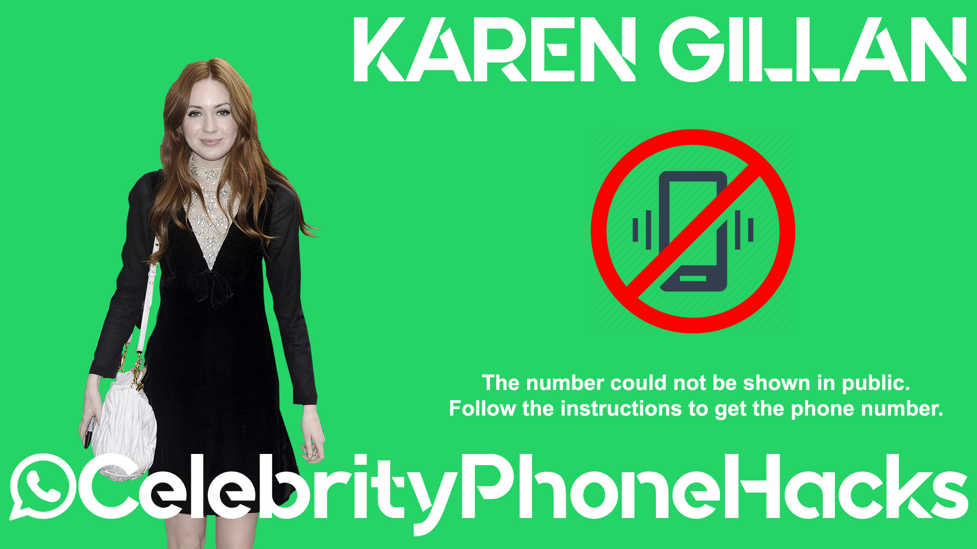 Karen Gillan real phone number 2019 whatsapp hacked leaked