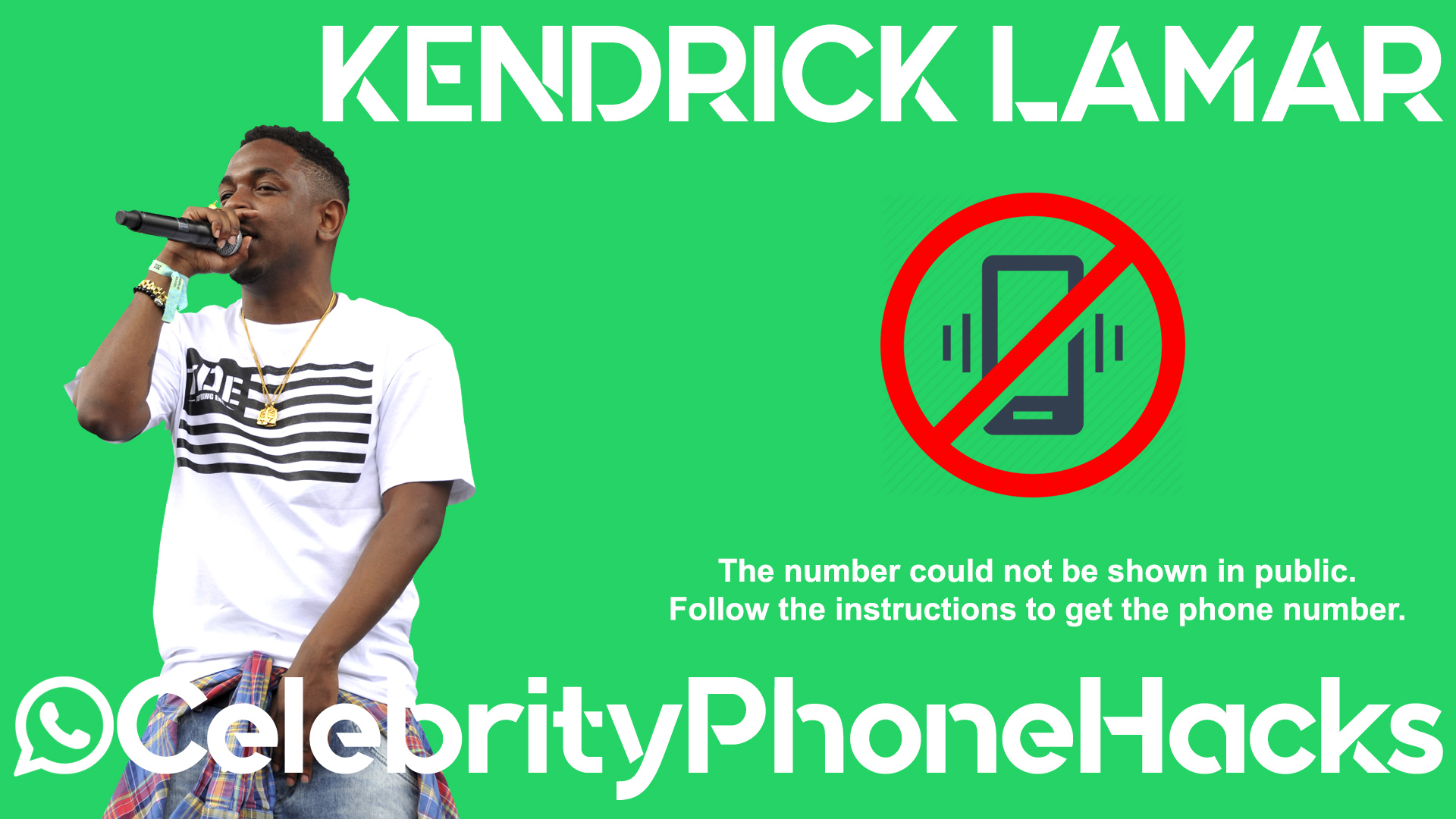 Kendrick Lamar real phone number 2019 whatsapp hacked leaked