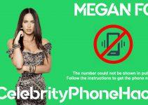 Megan Fox real phone number 2019 whatsapp hacked leaked