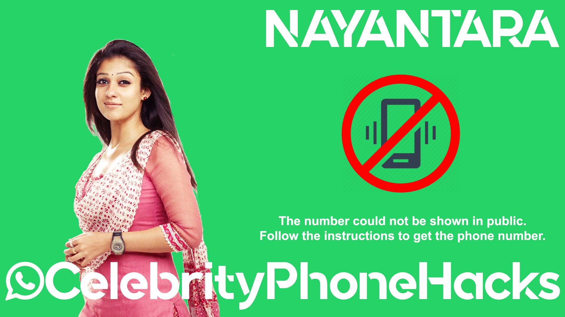 Nayantara real phone number 2019 whatsapp hacked leaked