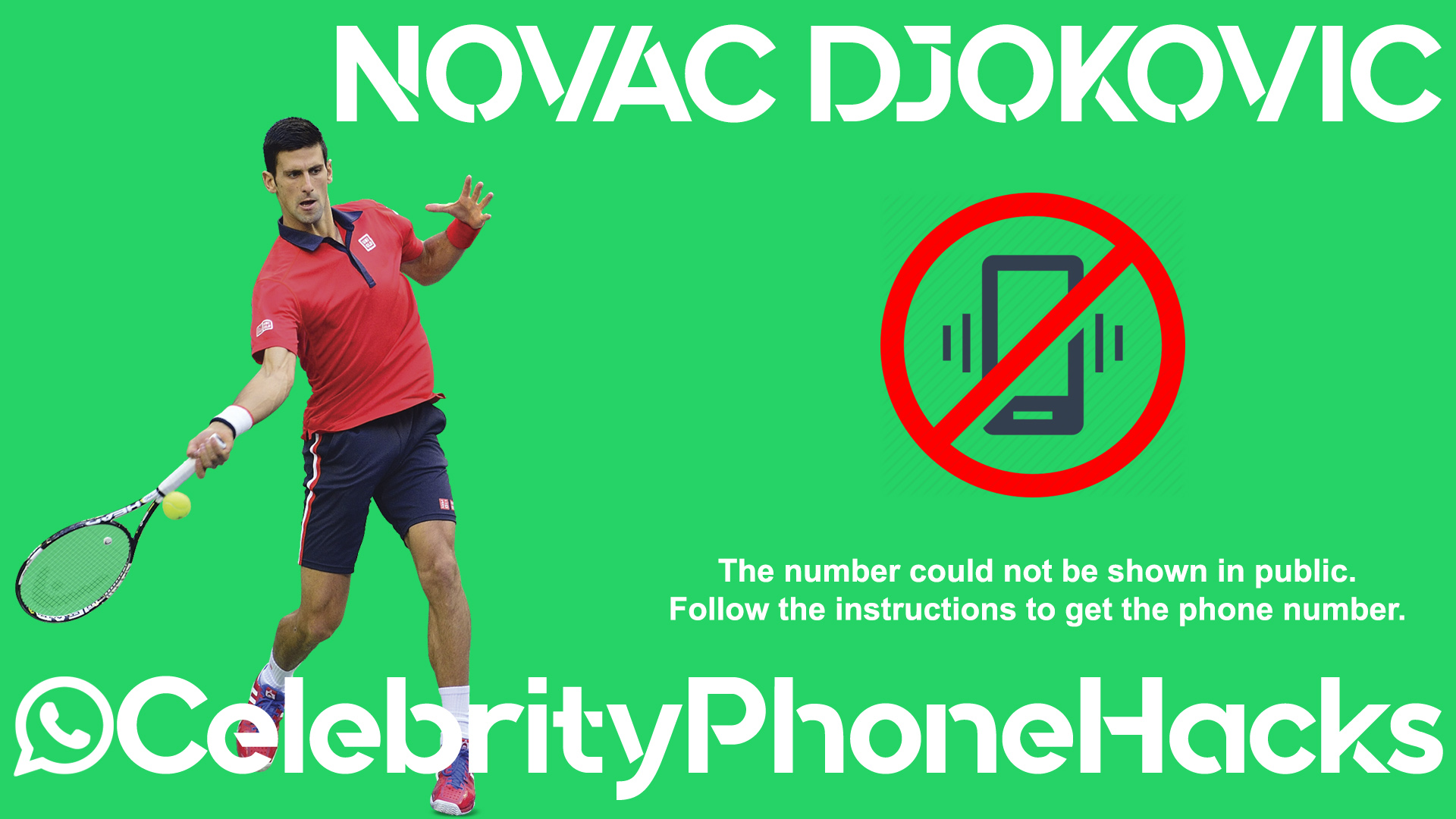 Novac Djokovic real phone number 2019 whatsapp hacked leaked