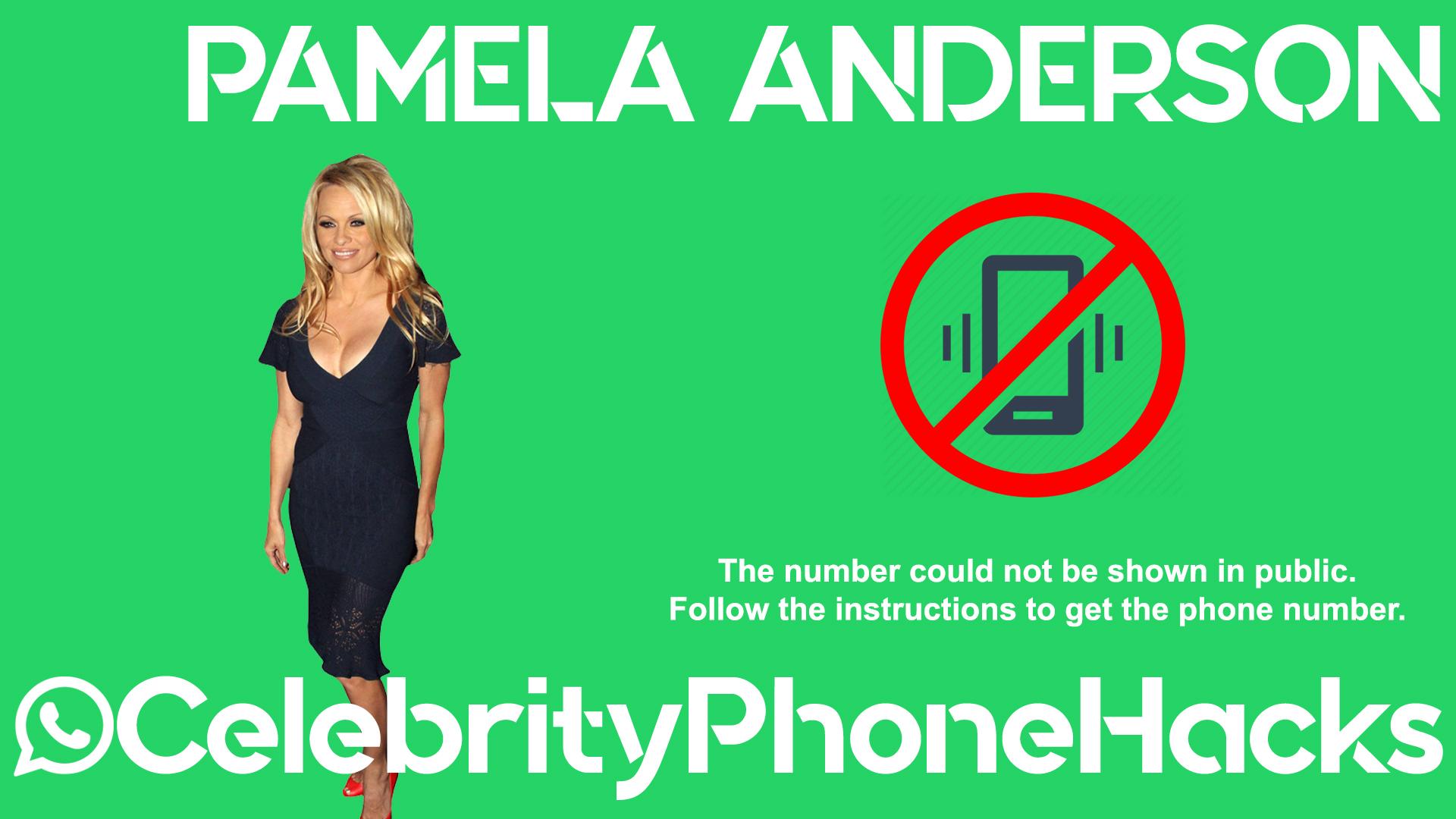 Pamela Anderson real phone number 2019 whatsapp hacked leaked