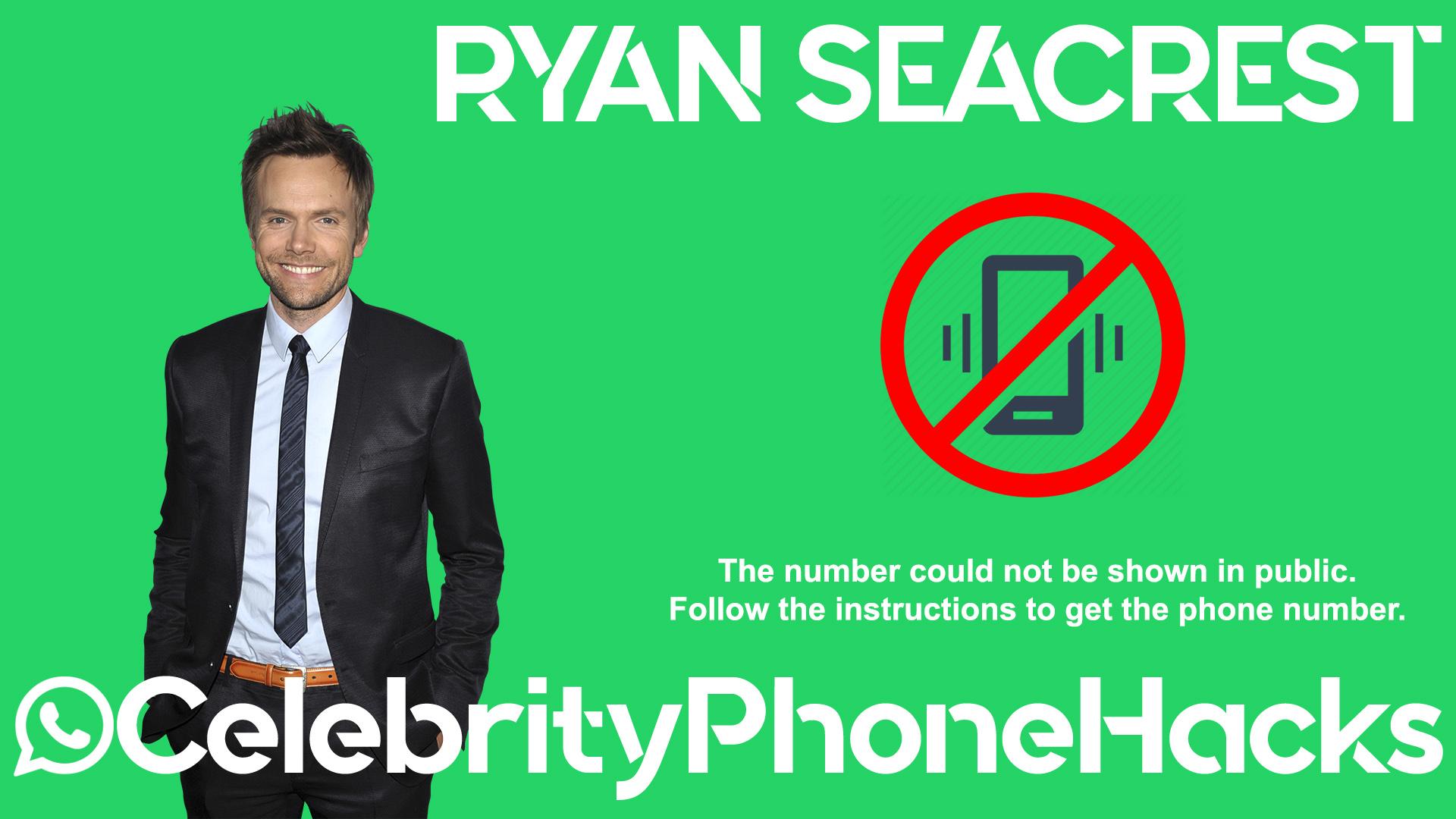 Ryan Seacrest real phone number 2019 whatsapp hacked leaked
