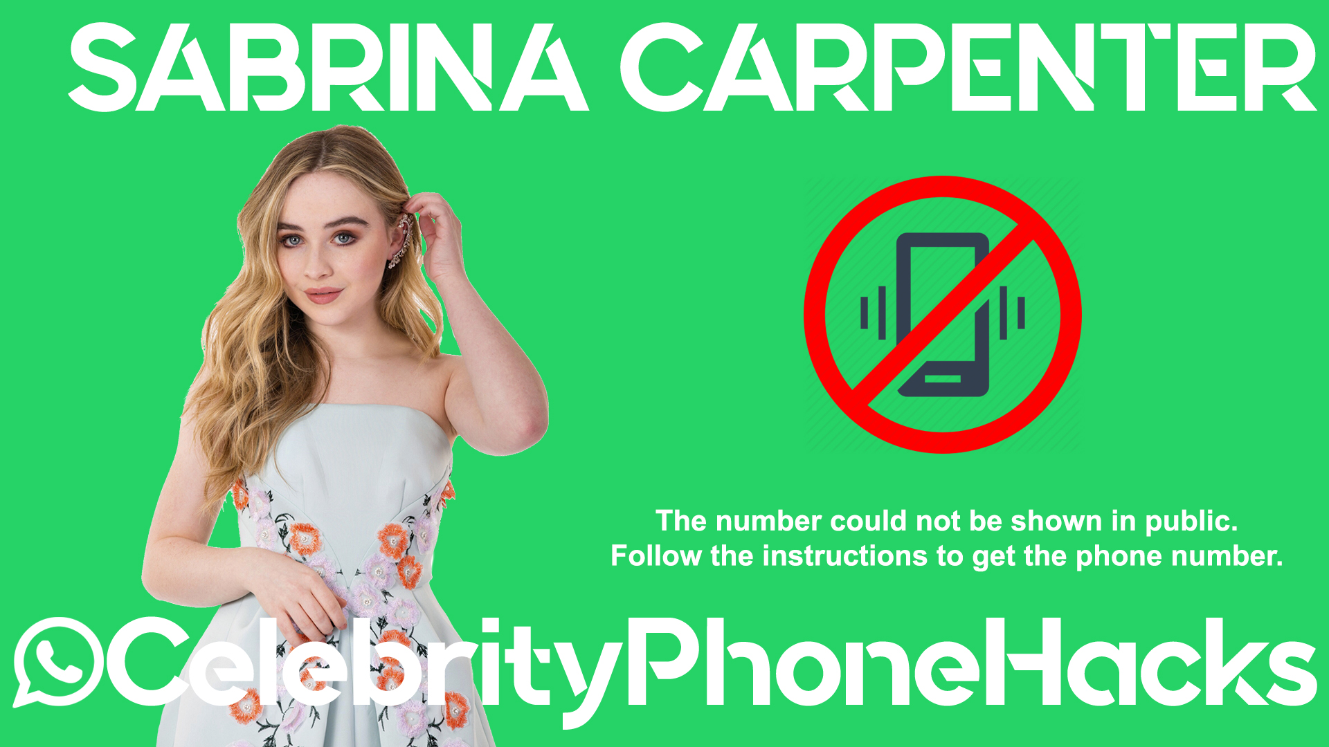 Sabrina Carpenter real phone number 2019 whatsapp hacked leaked