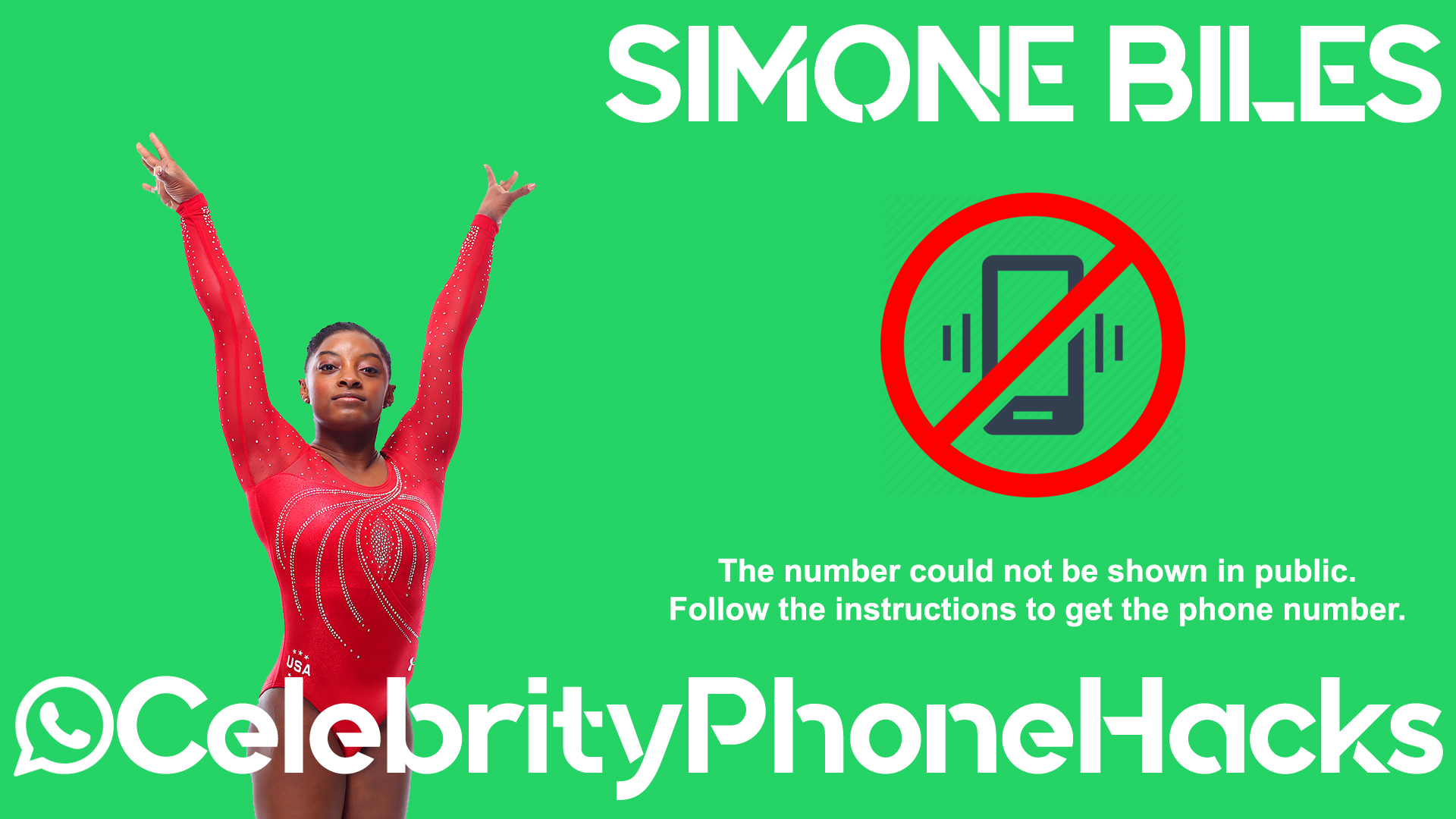 Simone Biles real phone number 2019 whatsapp hacked leaked