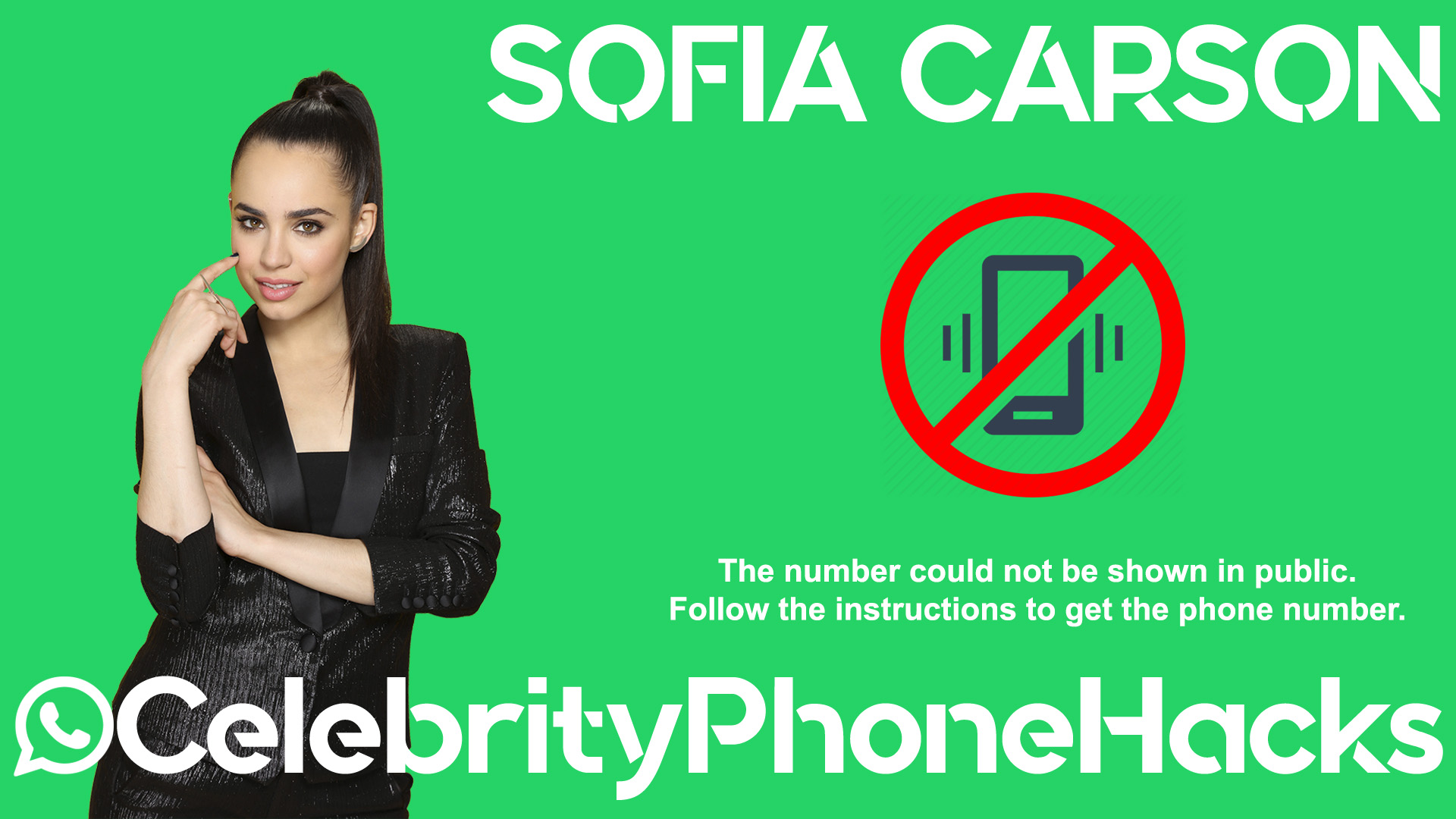 Sofia Carson real phone number 2019 whatsapp hacked leaked