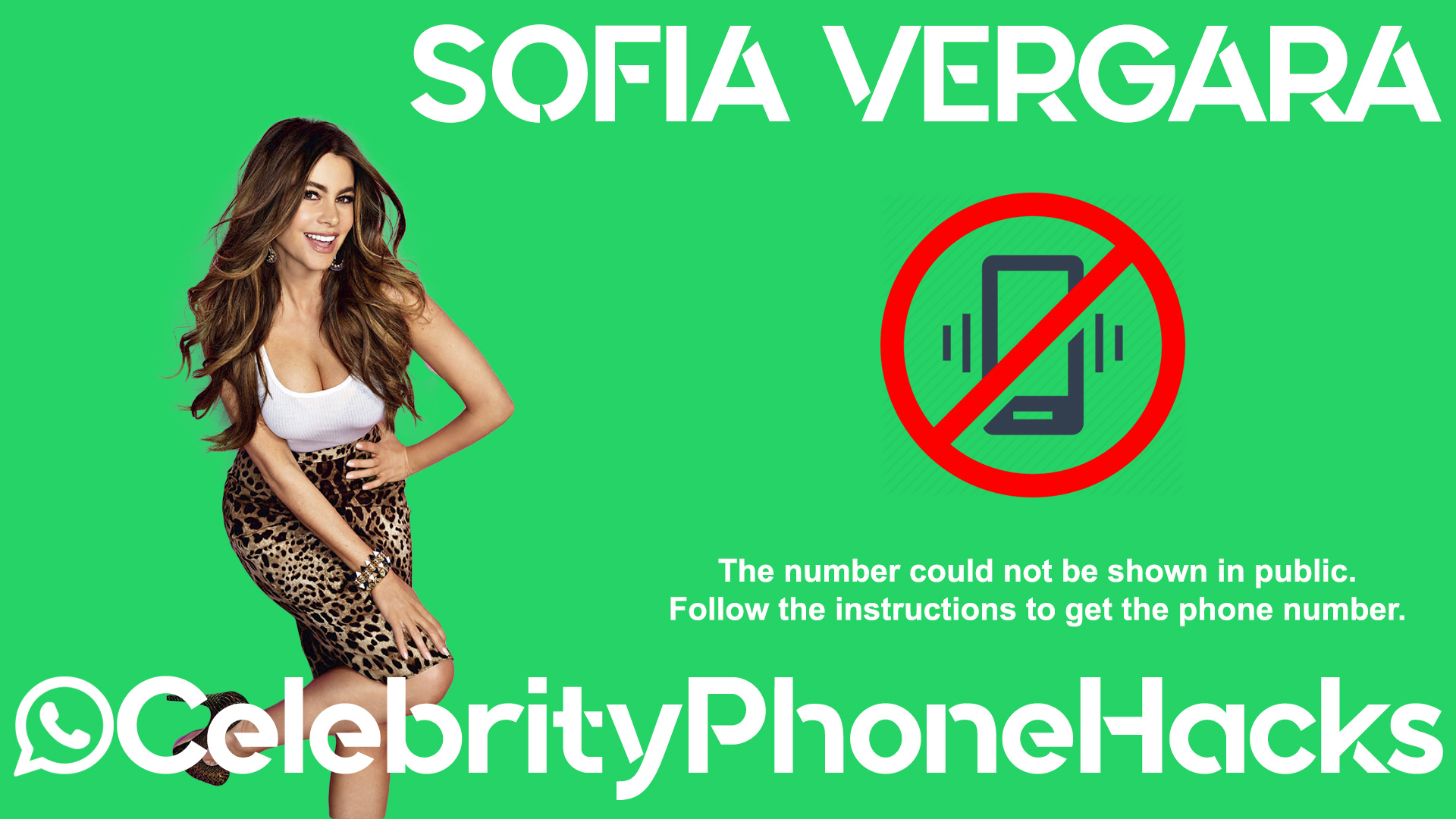 Sofia Vergara real phone number 2019 whatsapp hacked leaked