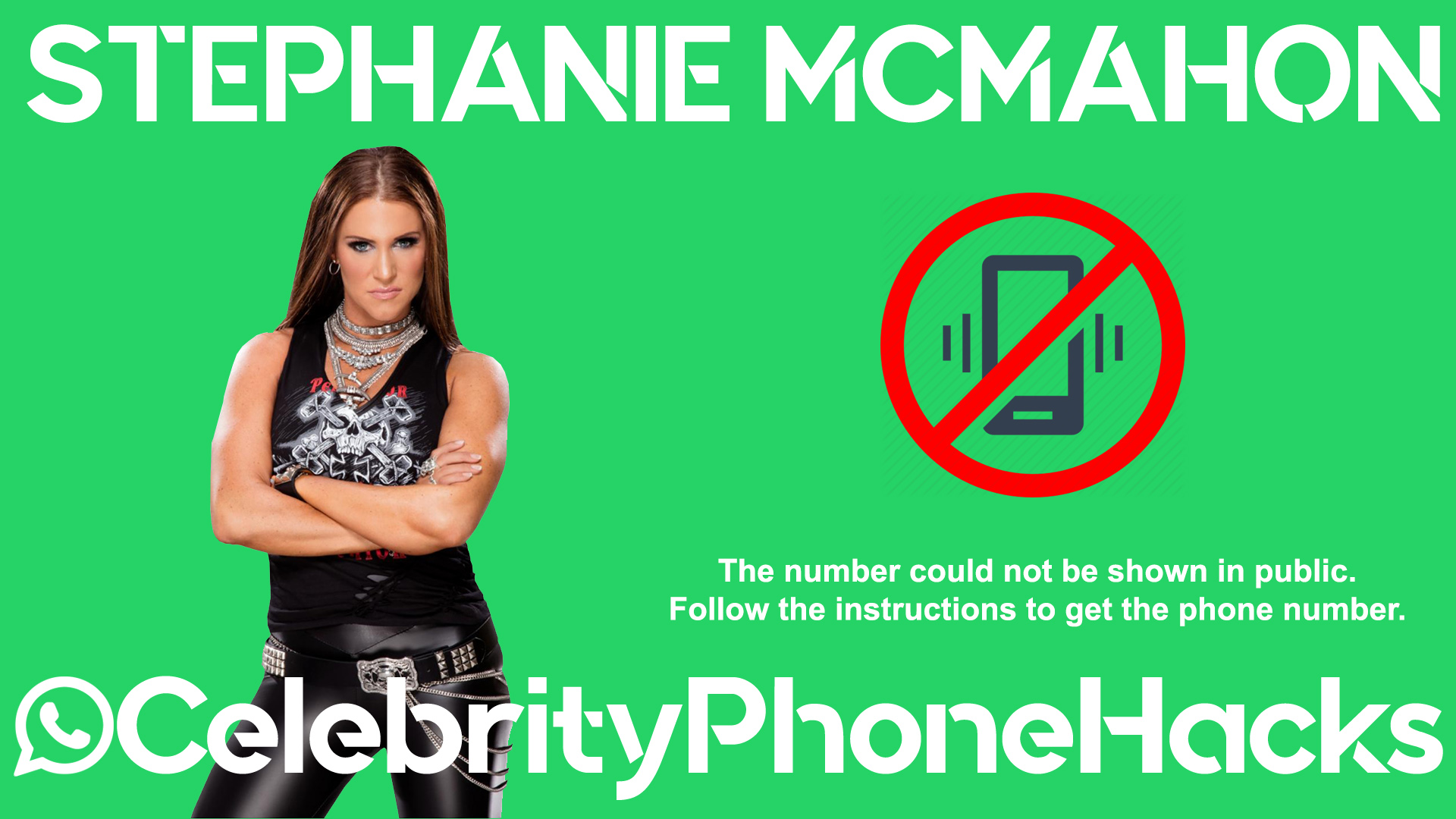 Stephanie McMahon real phone number 2019 whatsapp hacked leaked