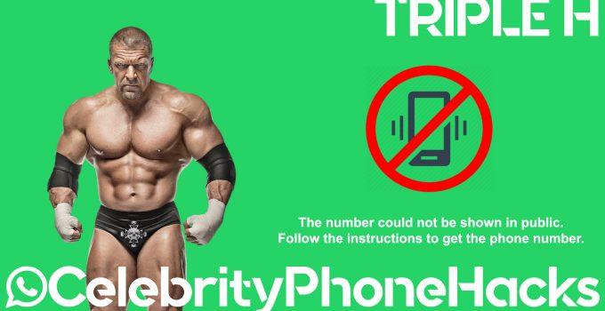 Triple H real phone number leaked hacked celebrityphonehacks