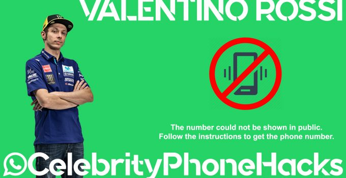 Valentino Rossi real phone number 2019 whatsapp hacked leaked